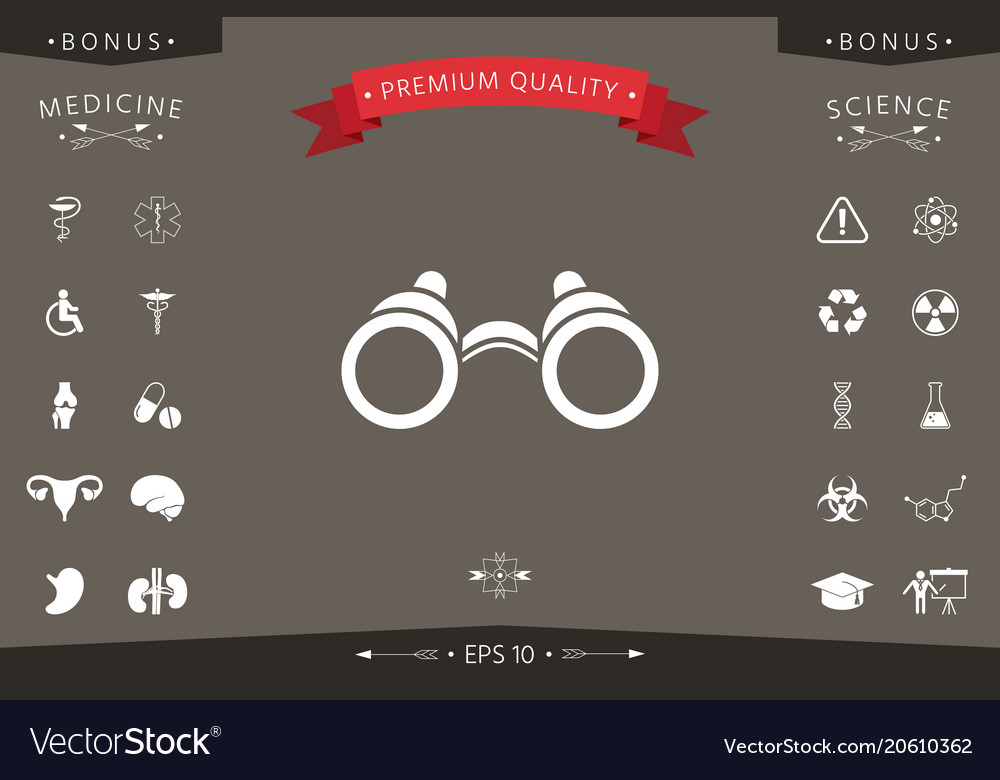 Binoculars symbol icon