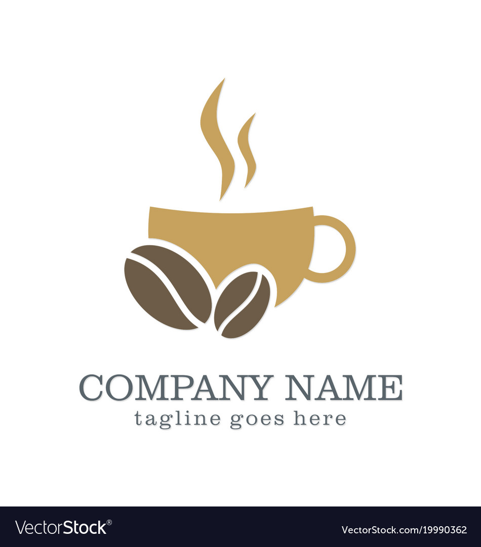 Coffee cup drink company logo