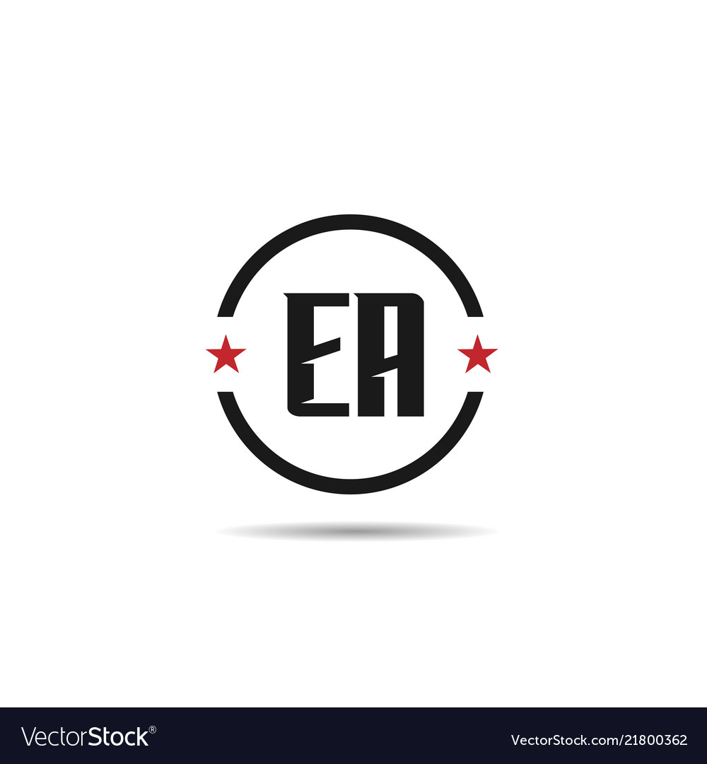 Initial Letter Ea Logo Template Design Royalty Free Vector