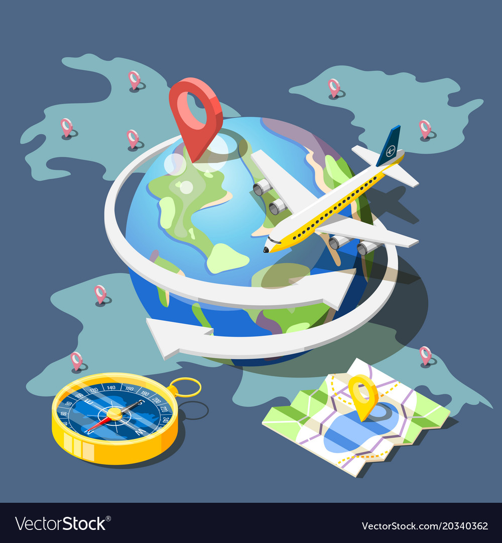 Planning traveling isometric composition