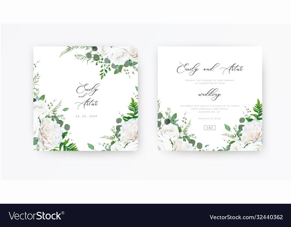 Wedding invite invitation save date card floral