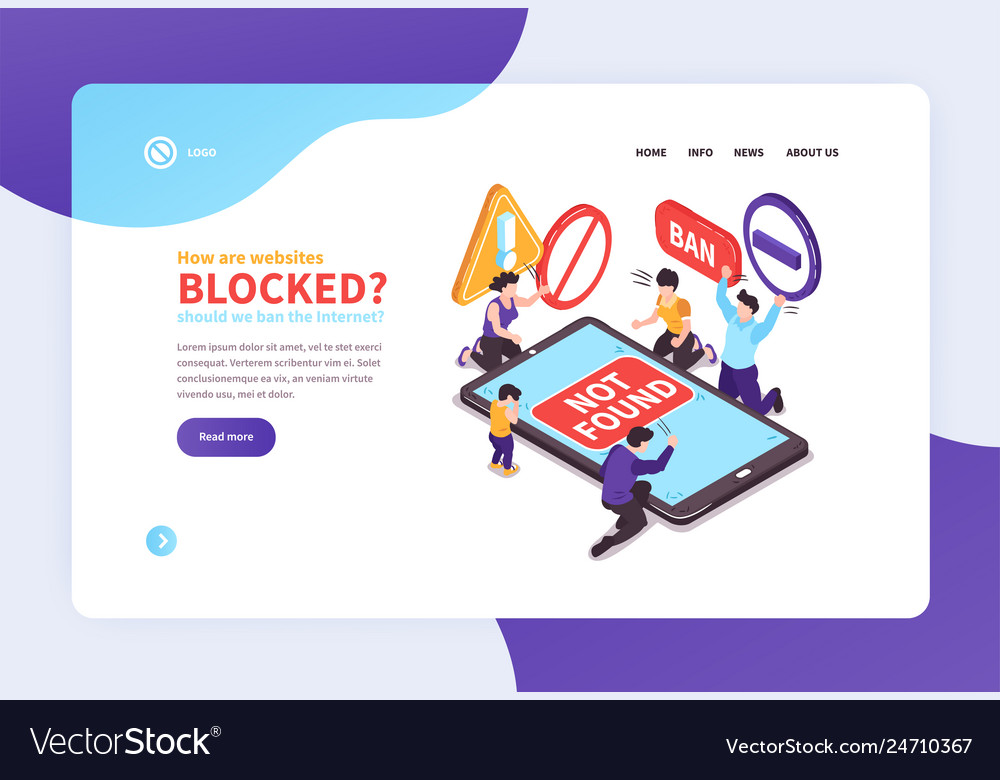 Banned website landing page