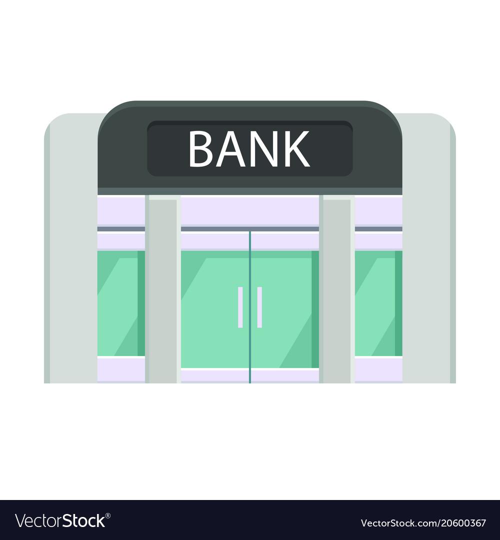 Concept art of the facade of the bank building
