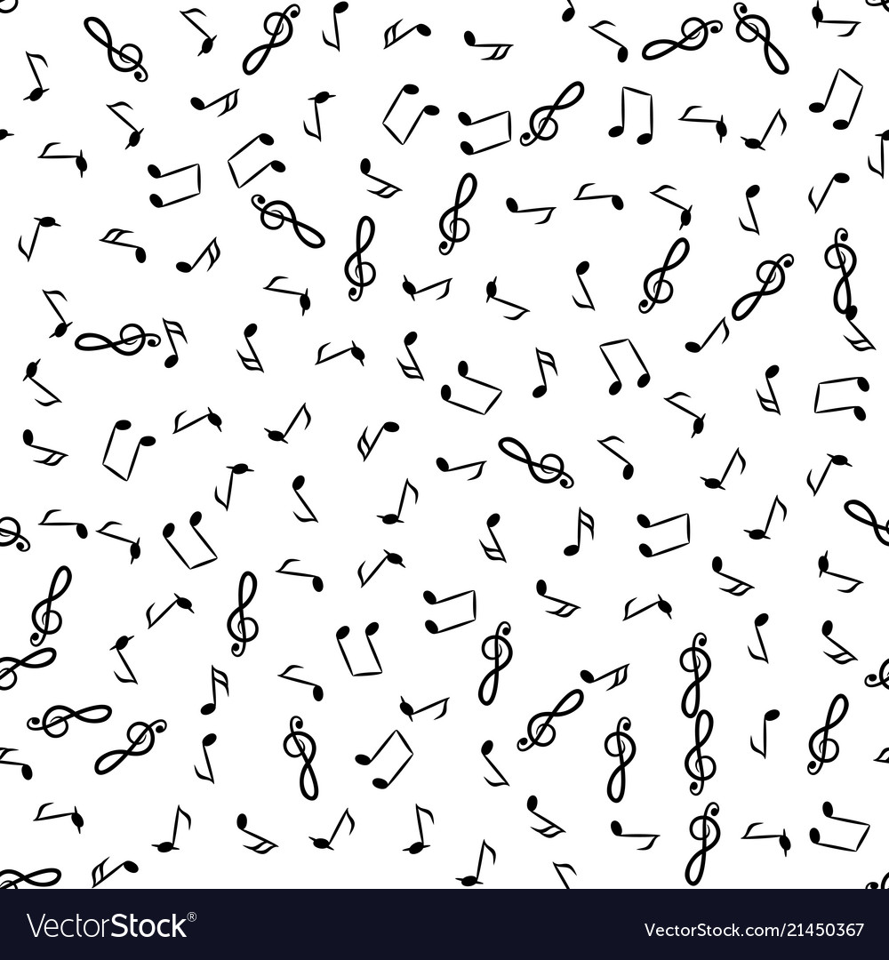 Music Notes Background Royalty Free Vector Image