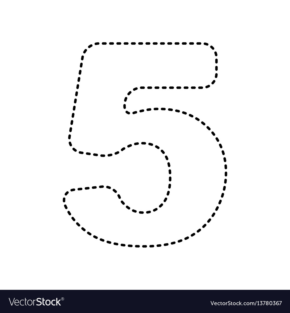 Number 5 sign design template element