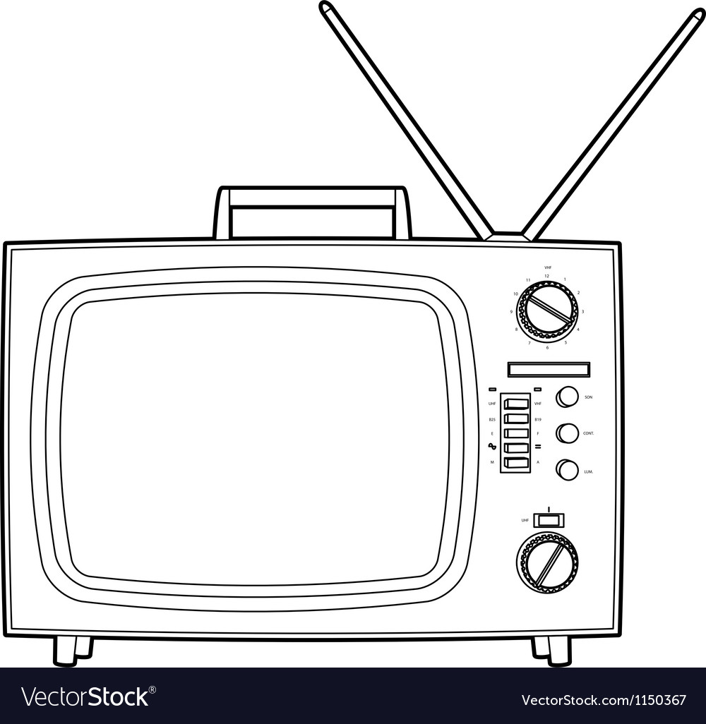 Old tv vector image