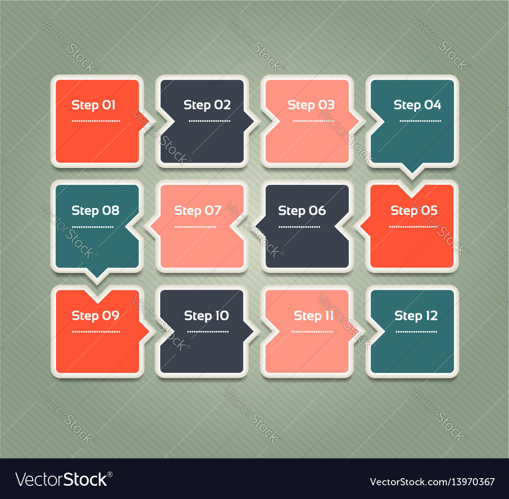 Progress background template for diagram vector image