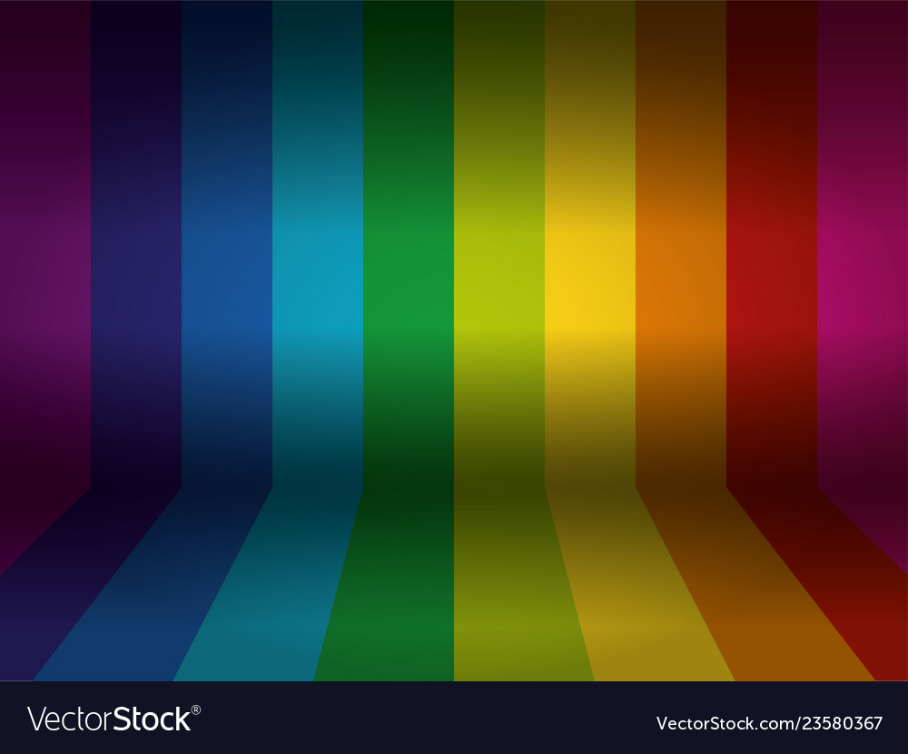 Rainbow colored wall with floor background