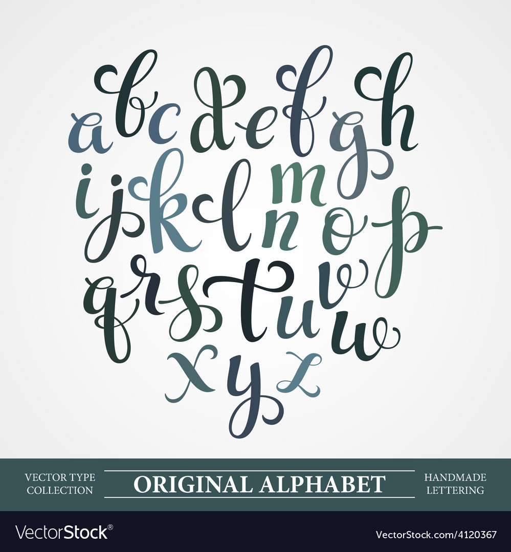 The original alphabet Hand-made lettering