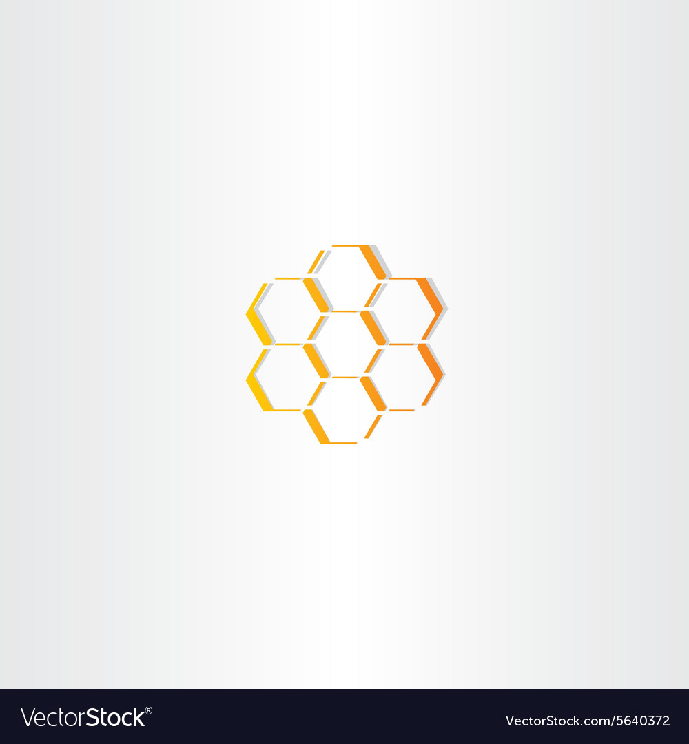 Abstract honey comb icon
