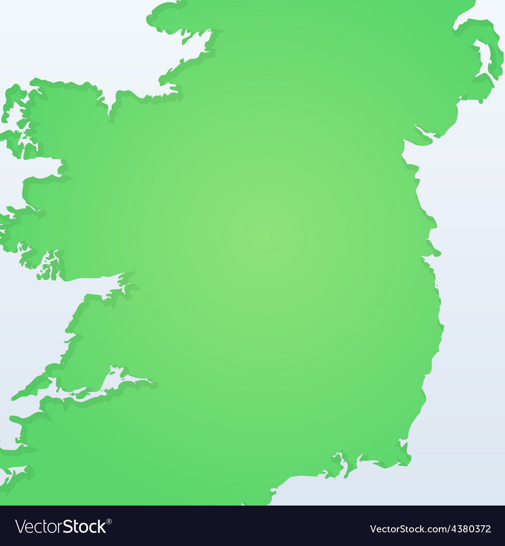Background with Silhouette of Ireland
