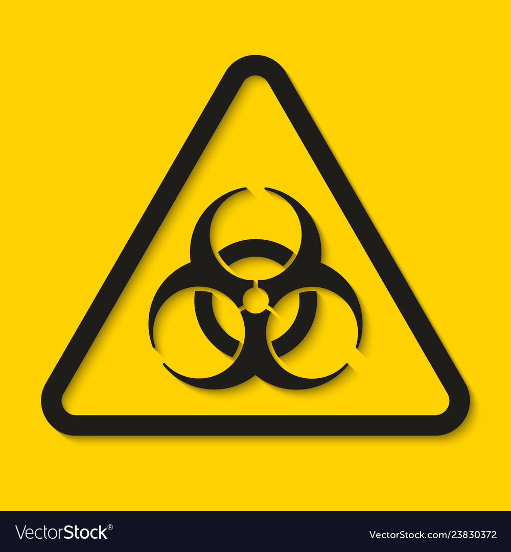 Biohazard dangerous sign isolated on yellow