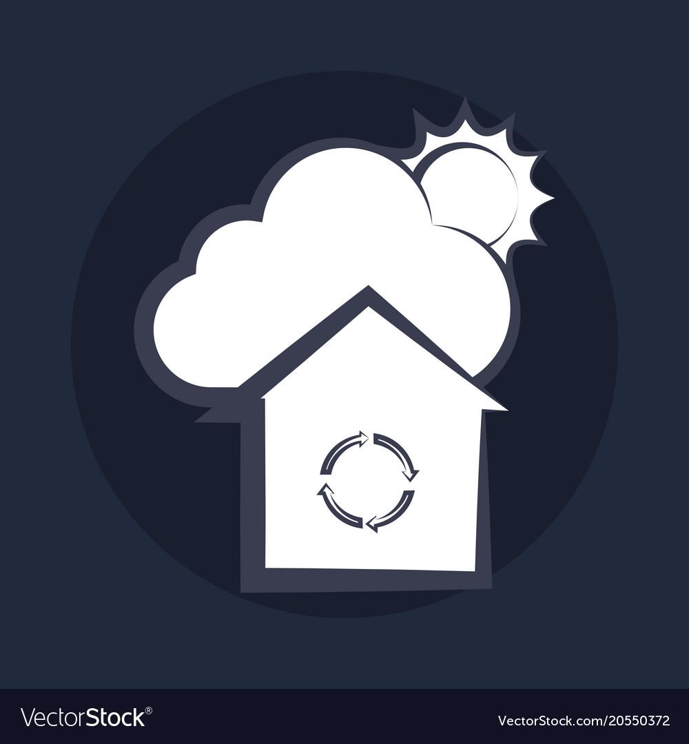 Cloud and sun design