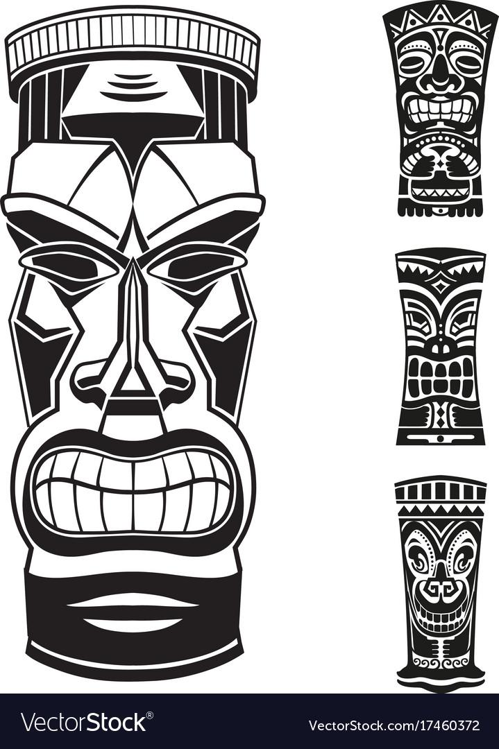 Ethnic style stickers set vector image