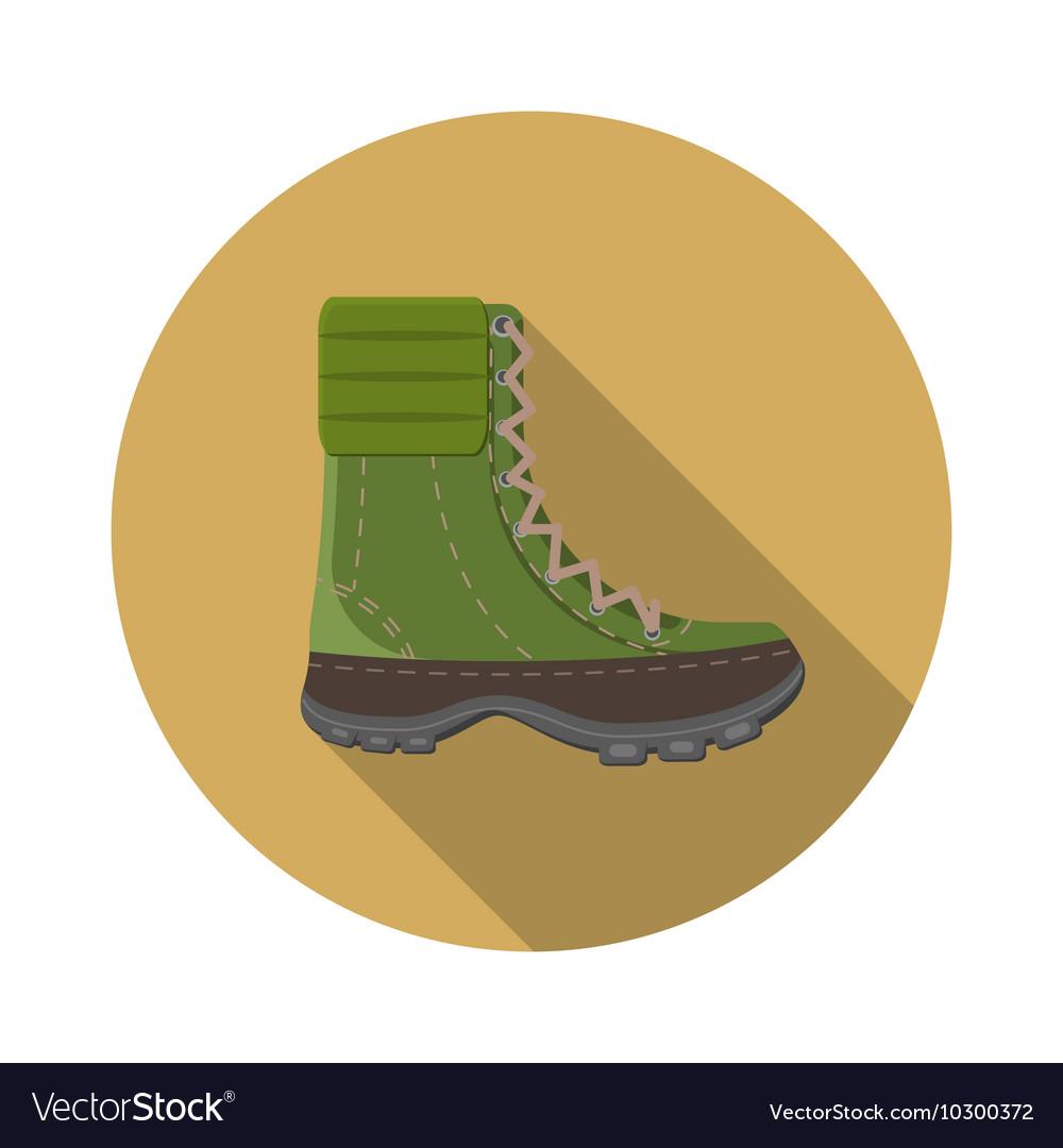 Flat design modern of trekking boot icon camping