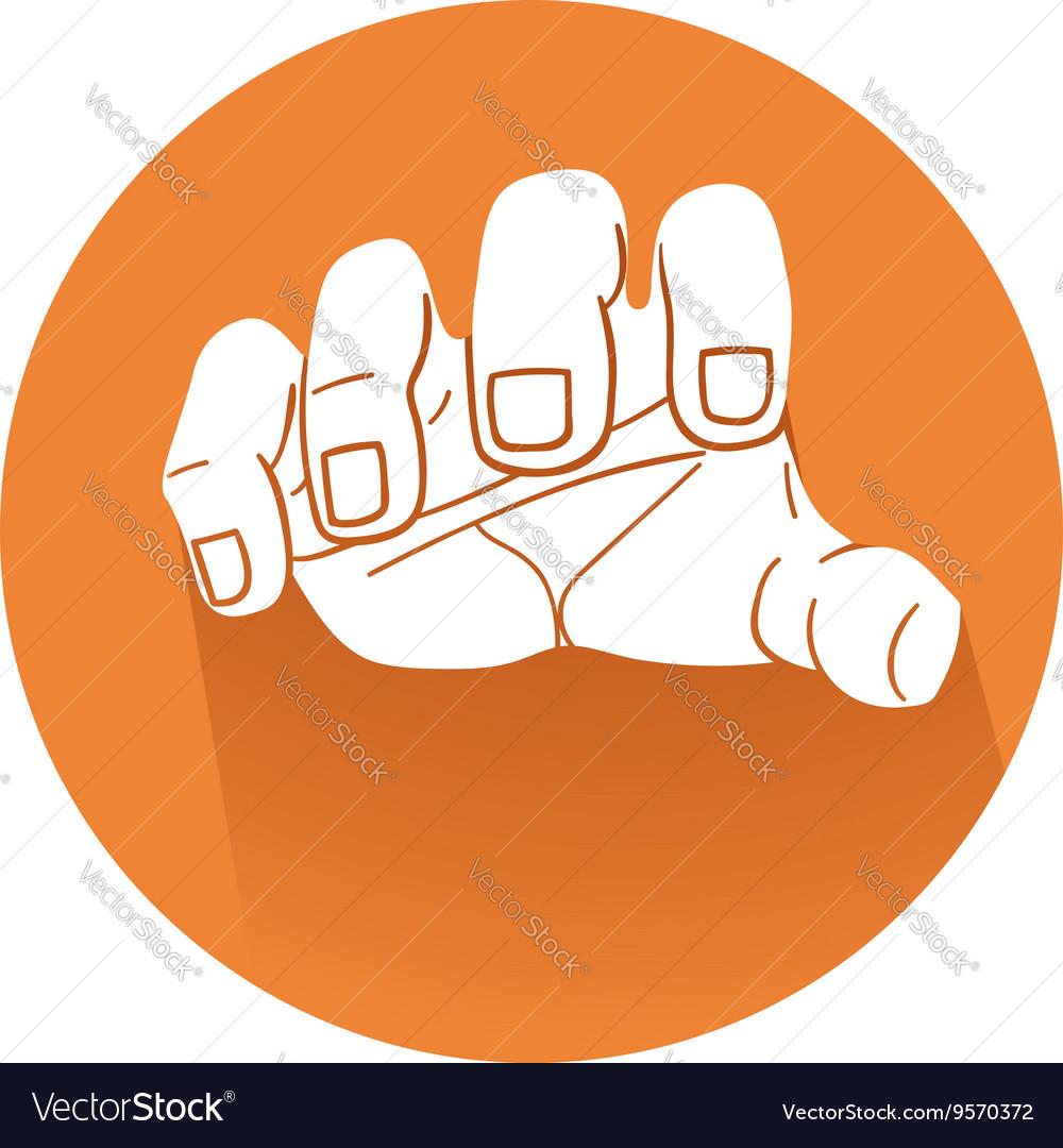 grabbing hand symbol royalty free vector image