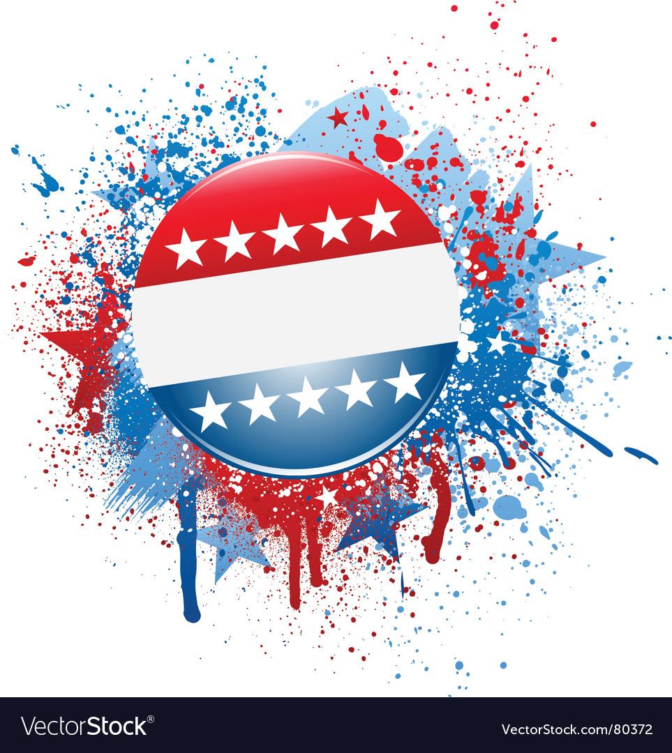 Grunge campaign button