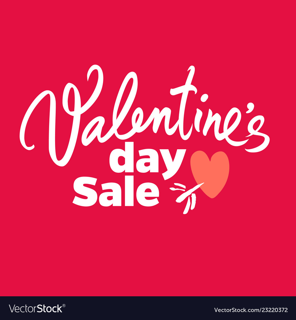 Valentines day sale poster special offer discount