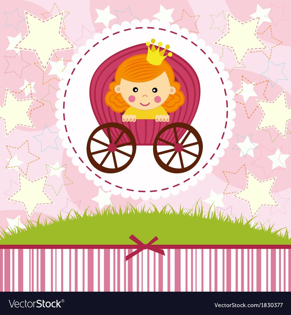 Baby girl princess vector image