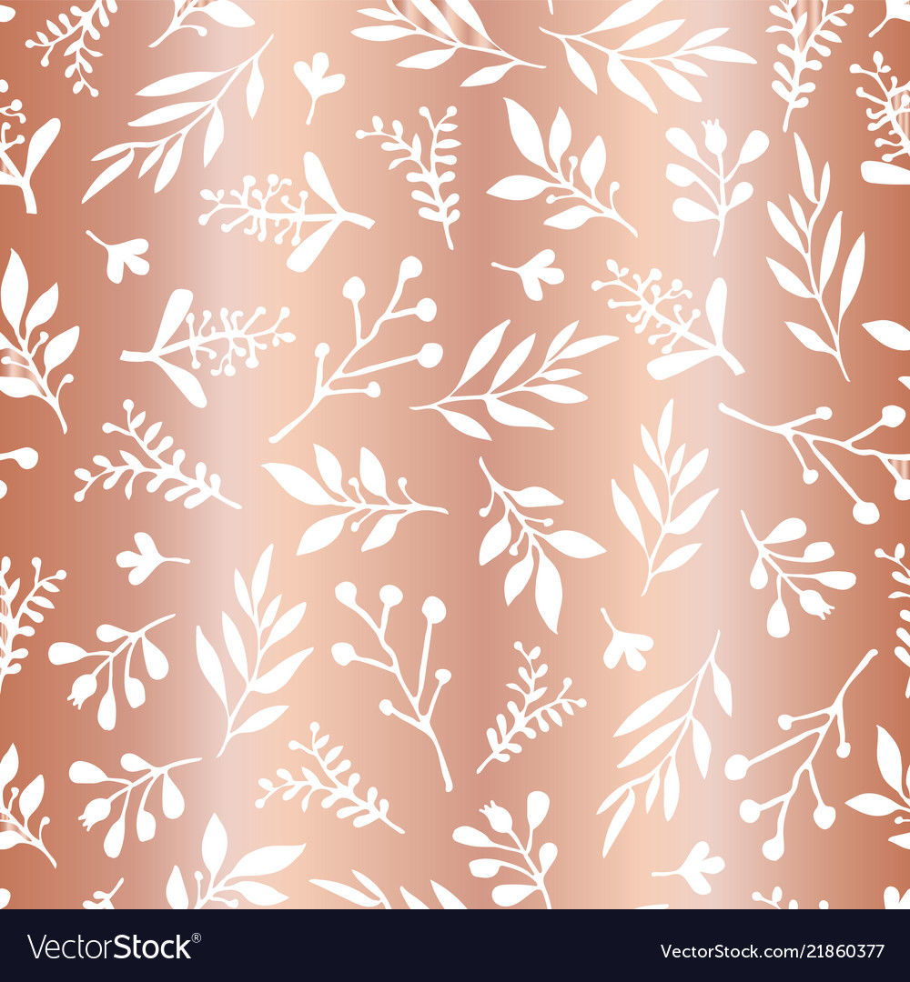 Copper foil leaves seamless background