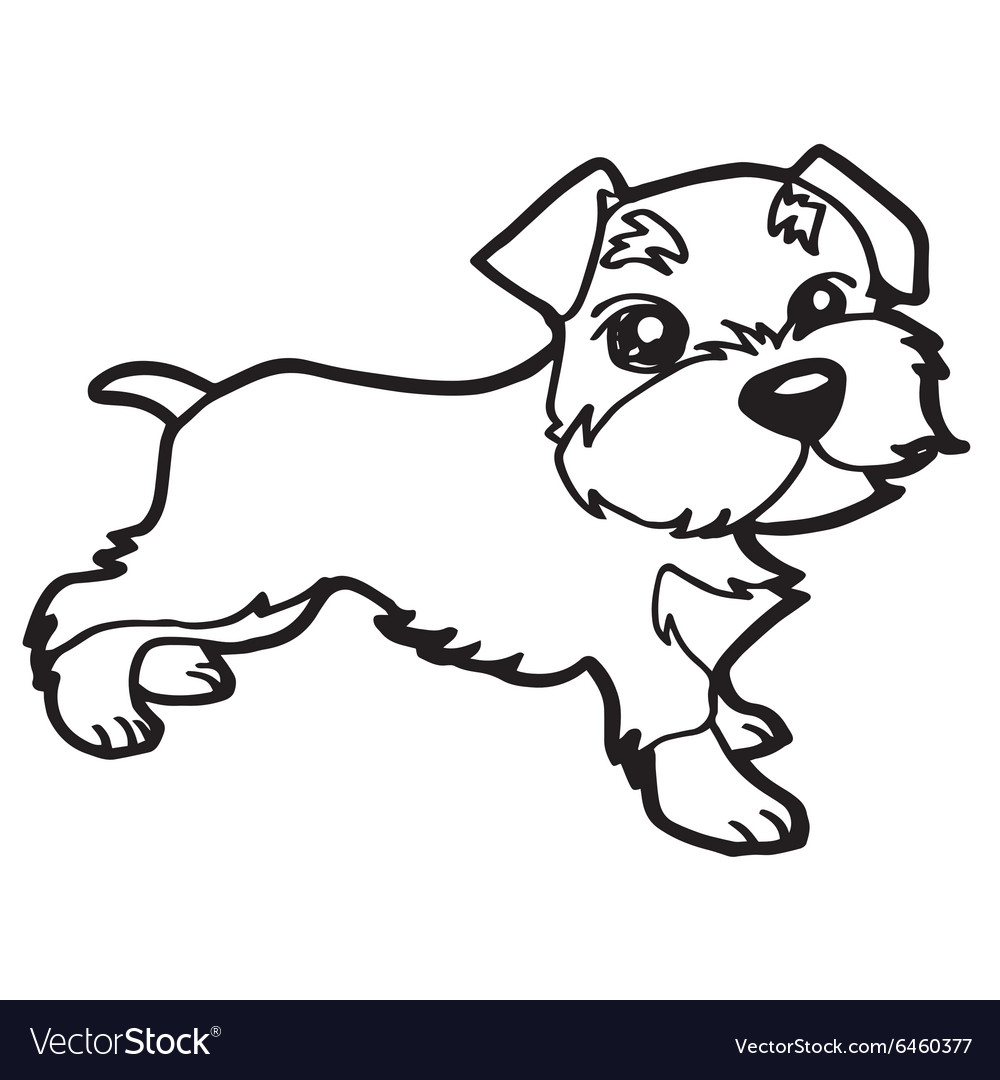 Dog coloring book with white Royalty Free Vector Image