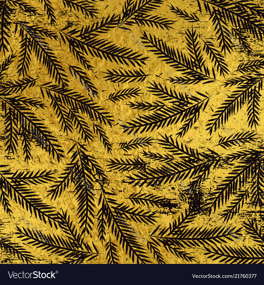 Grunge golden christmas background with black