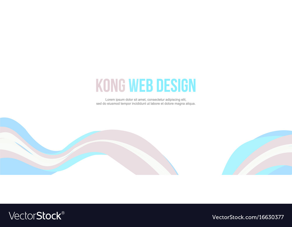 Header website abstract wave style simple design vector image