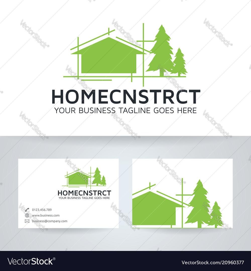 Home Construction Logo Design Royalty Free Vector Image