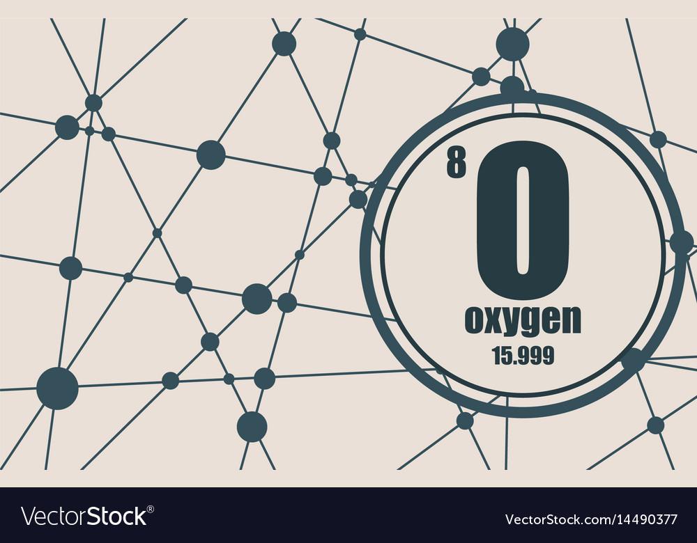 Oxygen chemical element vector image
