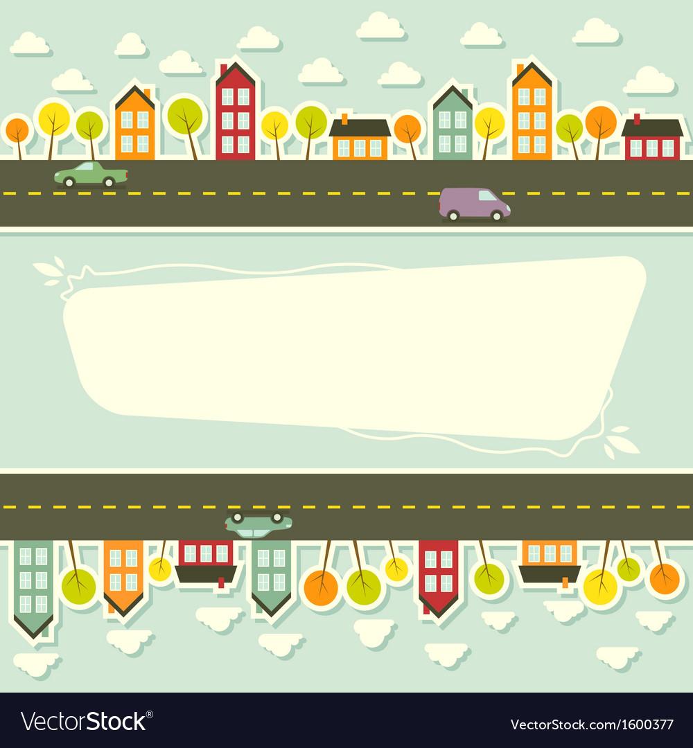 Paper urban landscape vector image
