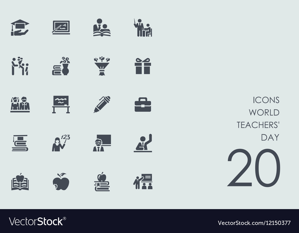 Set of world teachers day icons vector image