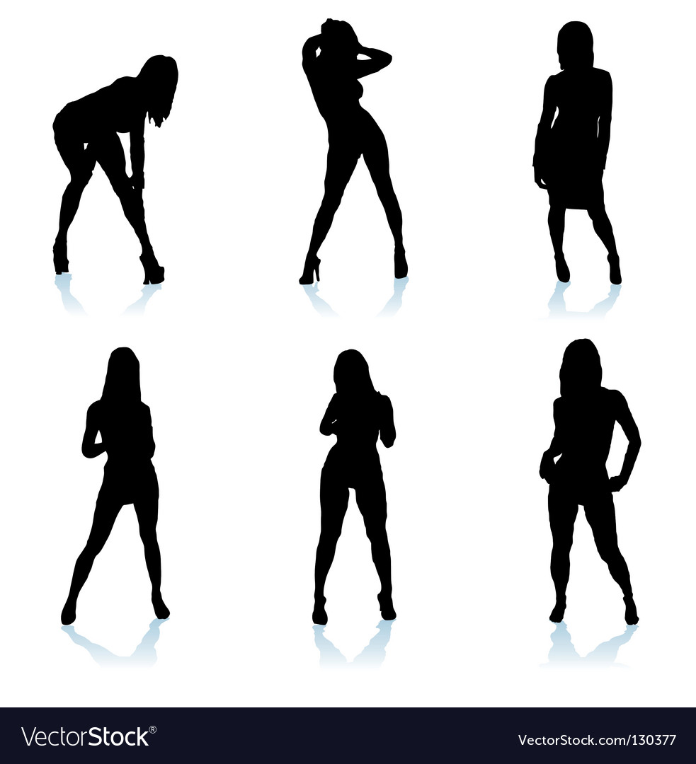 Sexy woman silhouette vector image