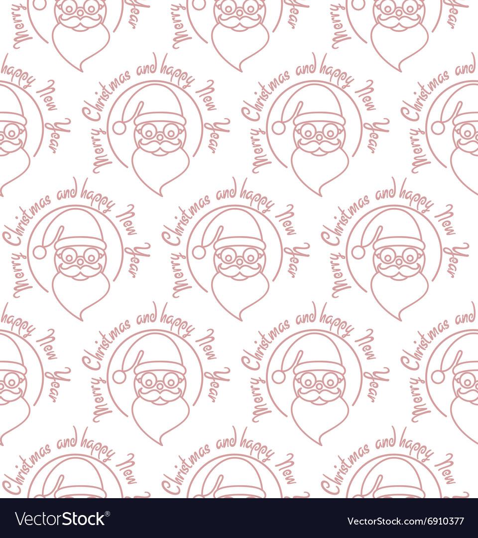 Stylish Merry Christmas seamless pattern with