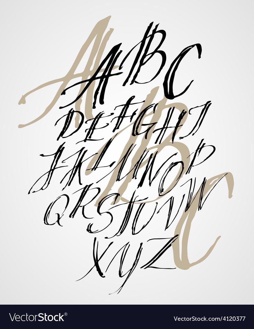 The original alphabet Hand-made lettering