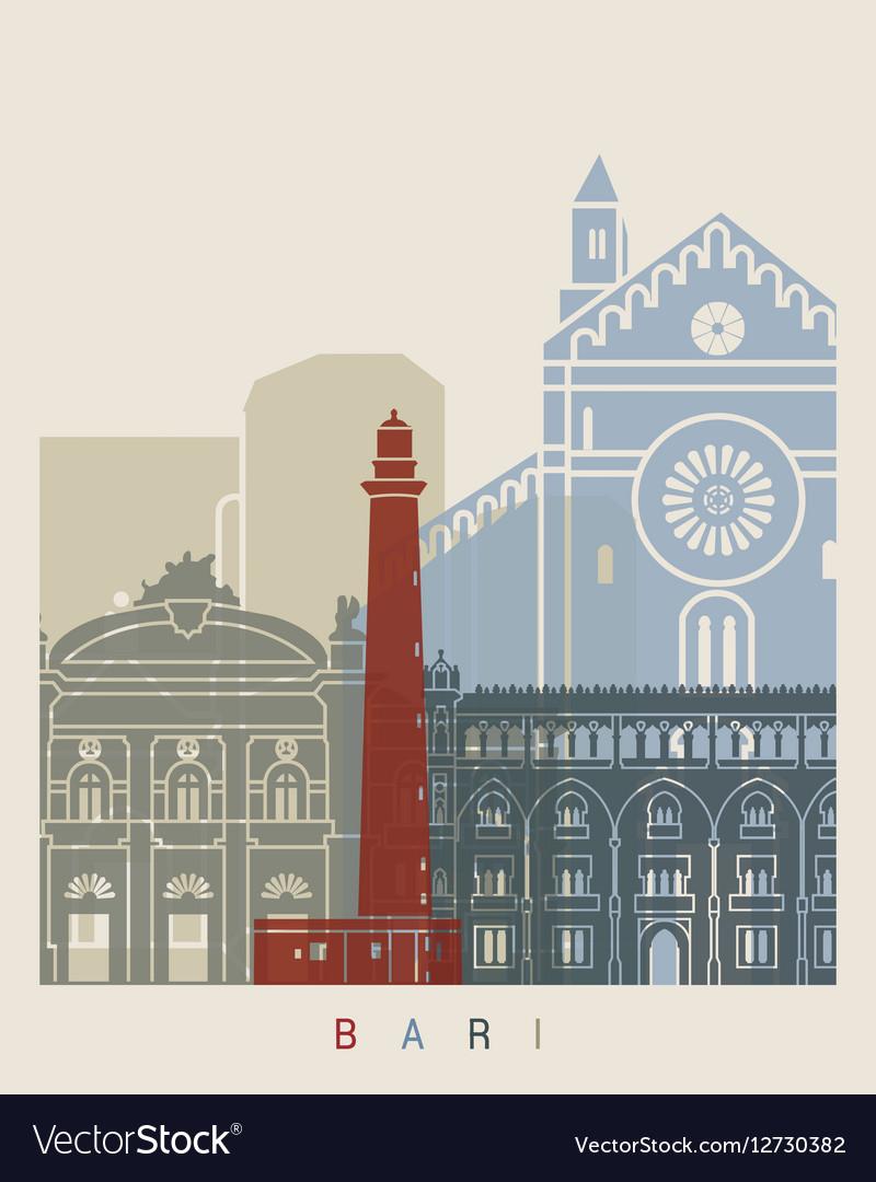 Bari skyline poster