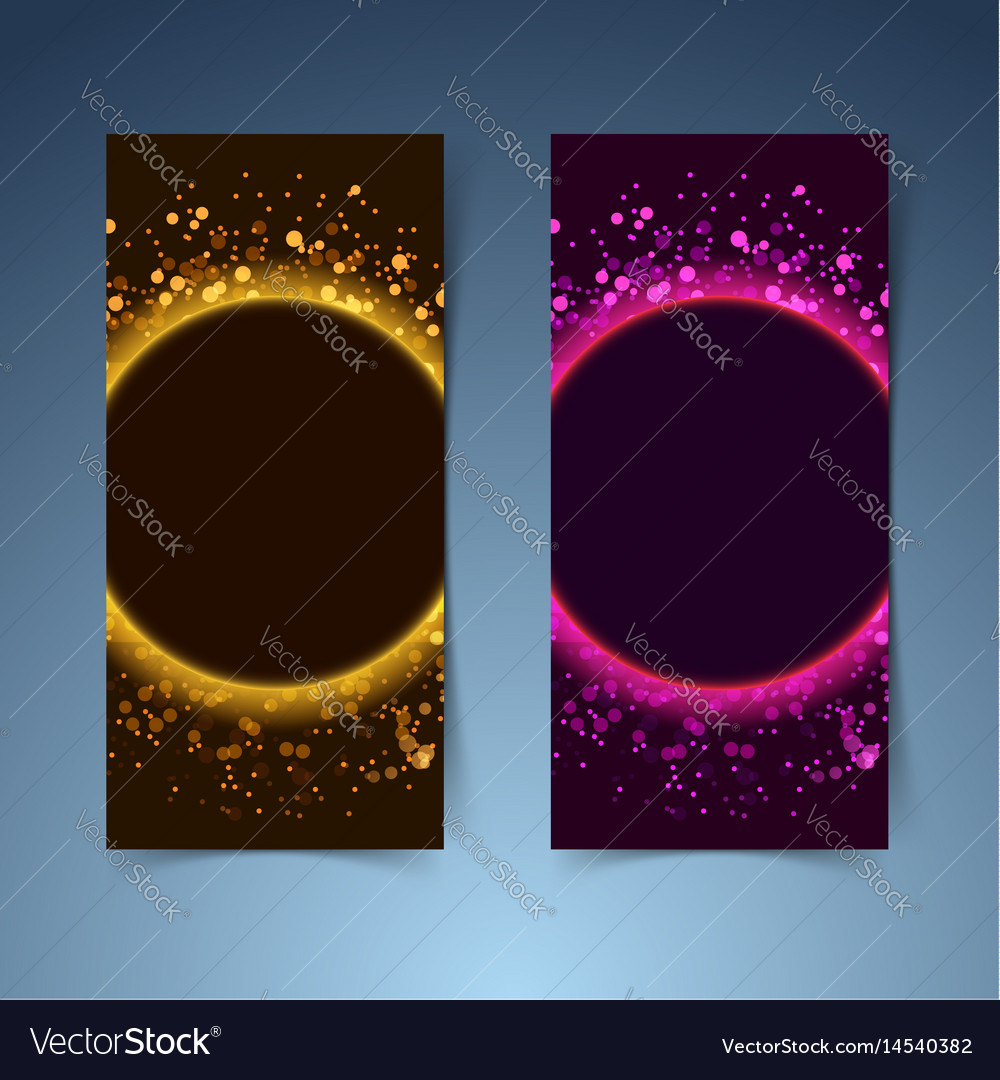 Bright glittering abstract modern club flyer vector image