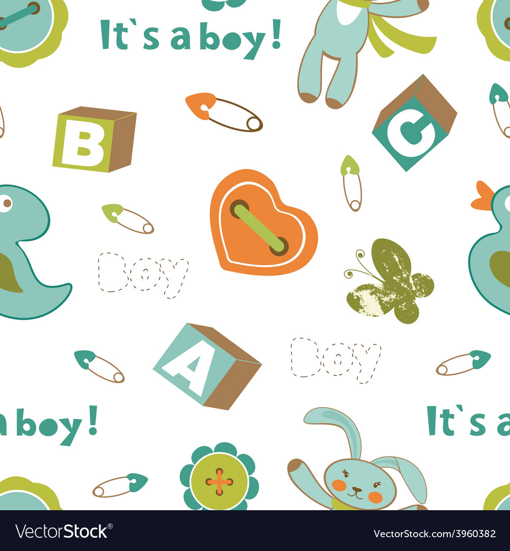 Colorful baby boy pattern