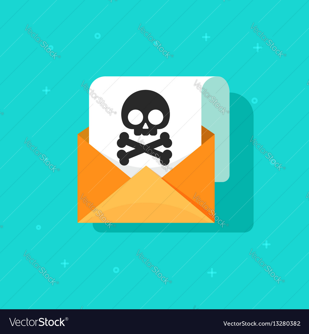 Email spam icon scam e-mail message