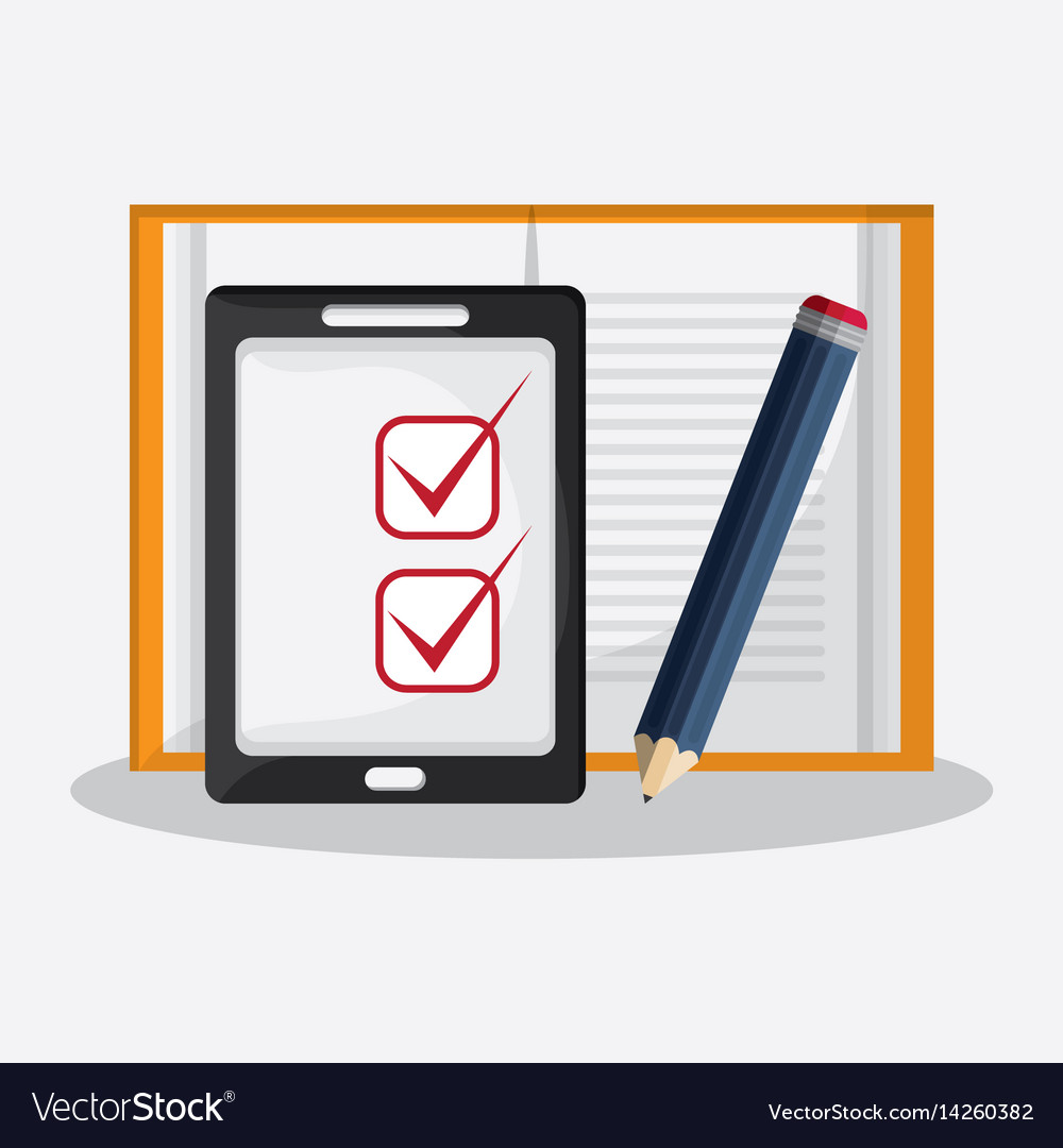 Gadget and writing materials related icons image