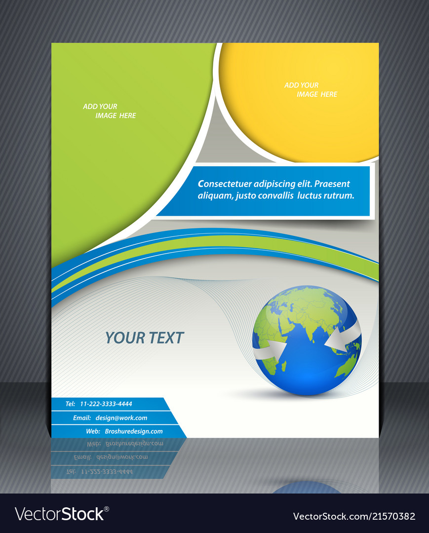 Layout business flyer with world map magazine