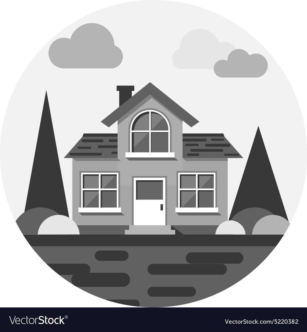 Modern flat building vector image