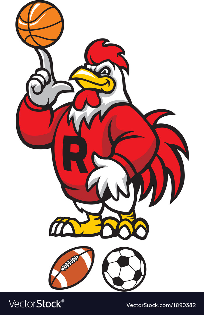 rooster mascot royalty free vector image vectorstock