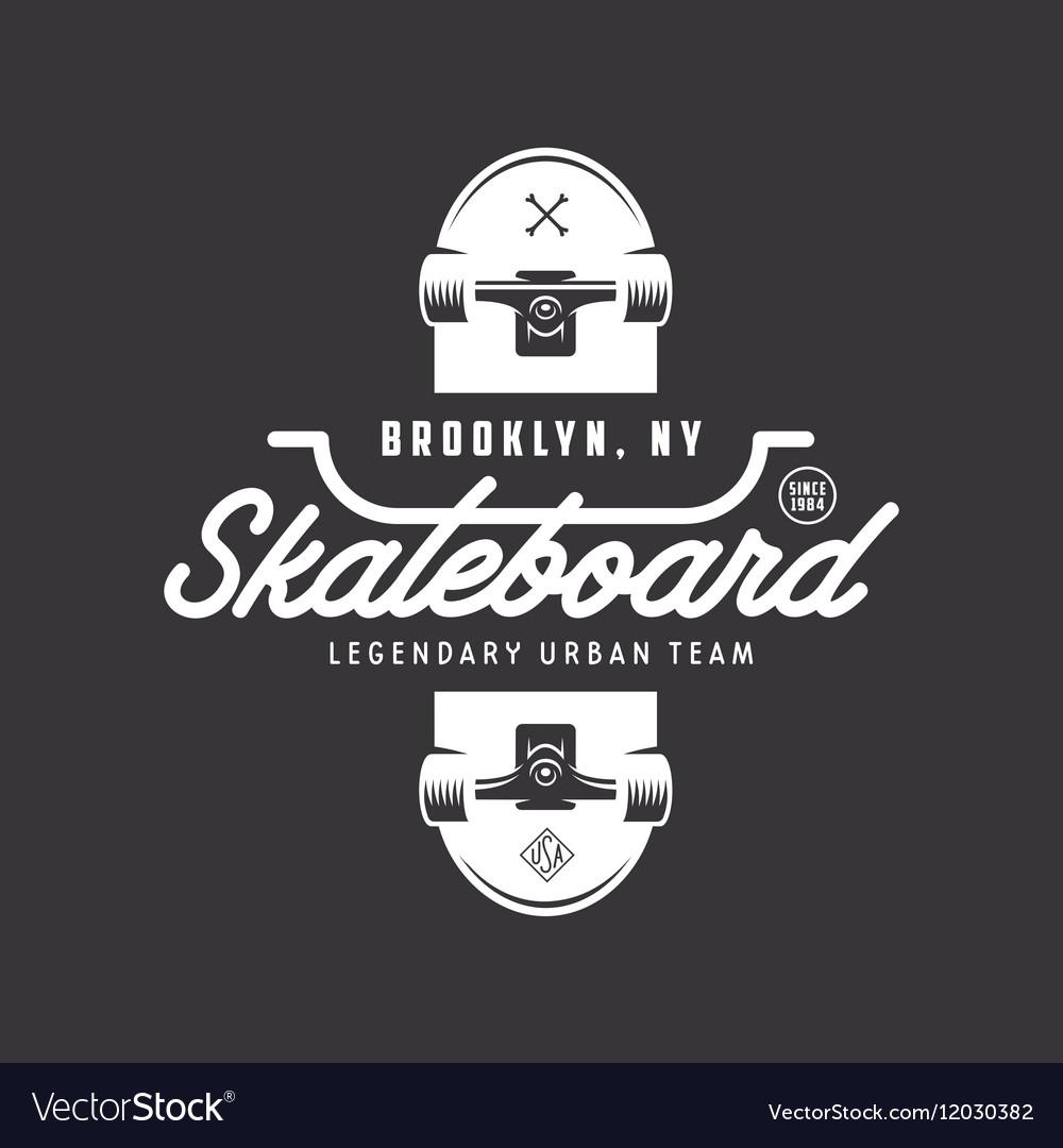 Skateboarding T Shirt Design Vintage Royalty Free Vector