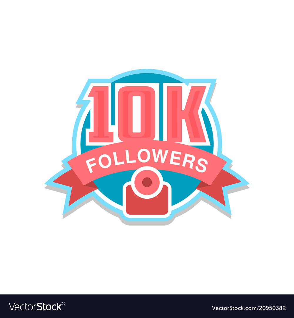 Thank you 10k followers numbers template for