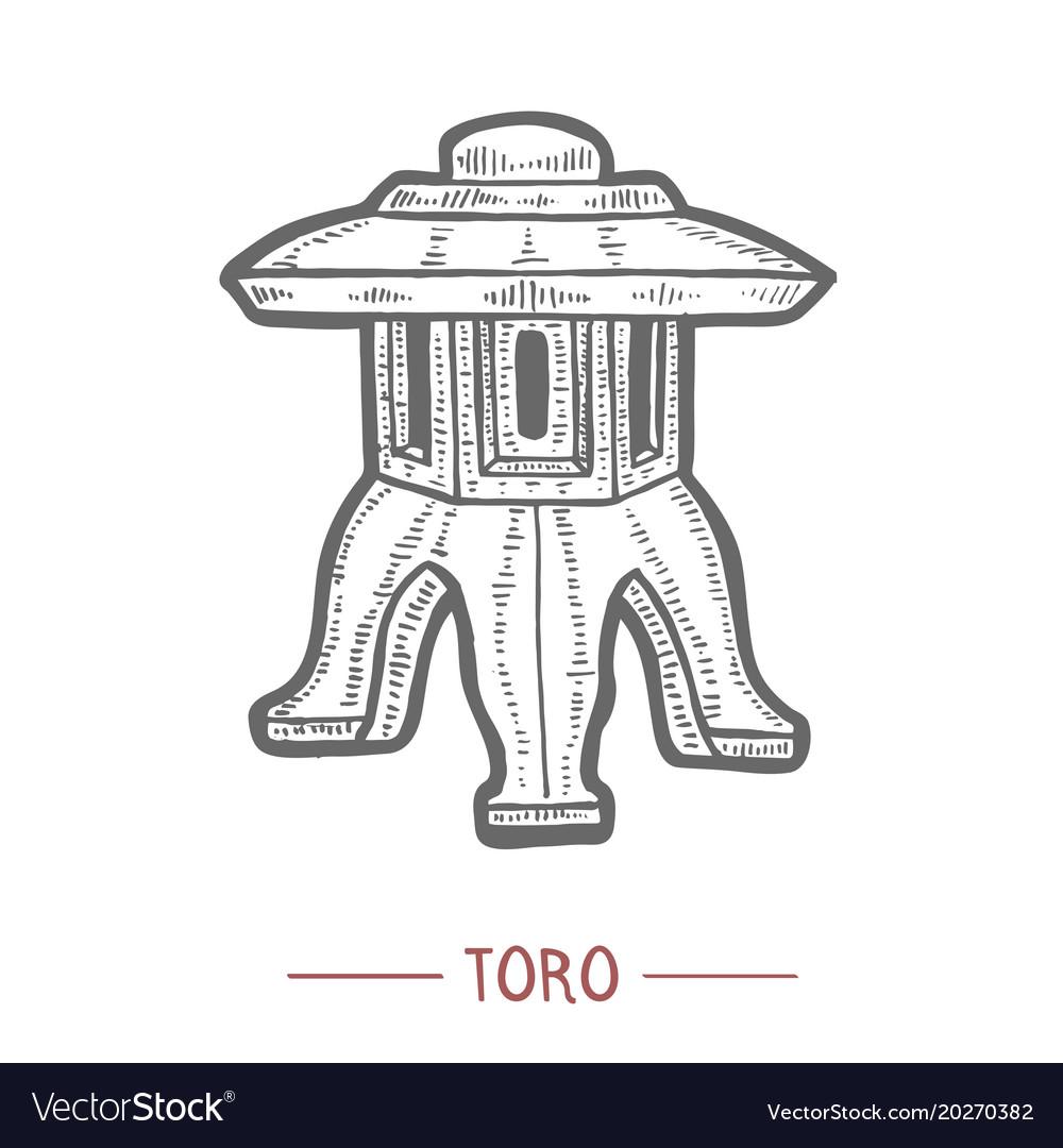 Toro lantern in hand drawn style