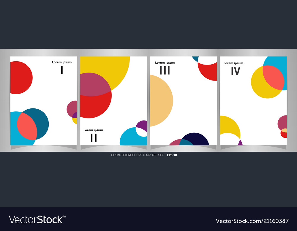 Abstract of colorful circle pattern brochure set