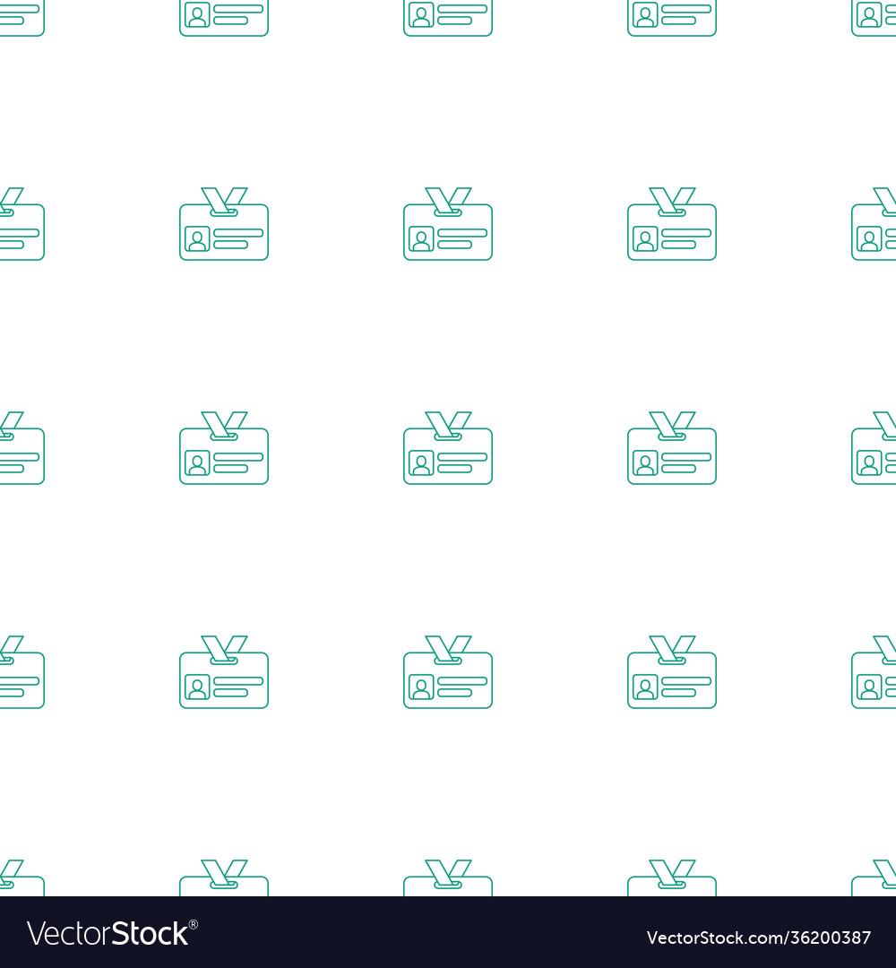 Badge icon pattern seamless white background