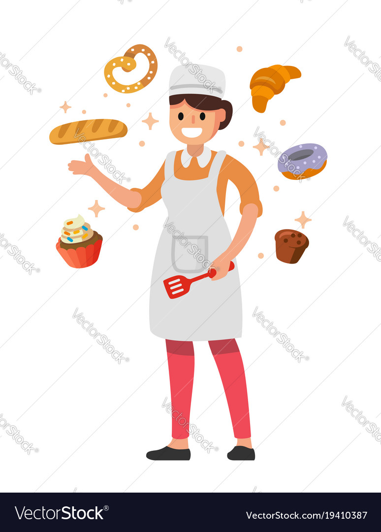 Cooking woman holding spatula