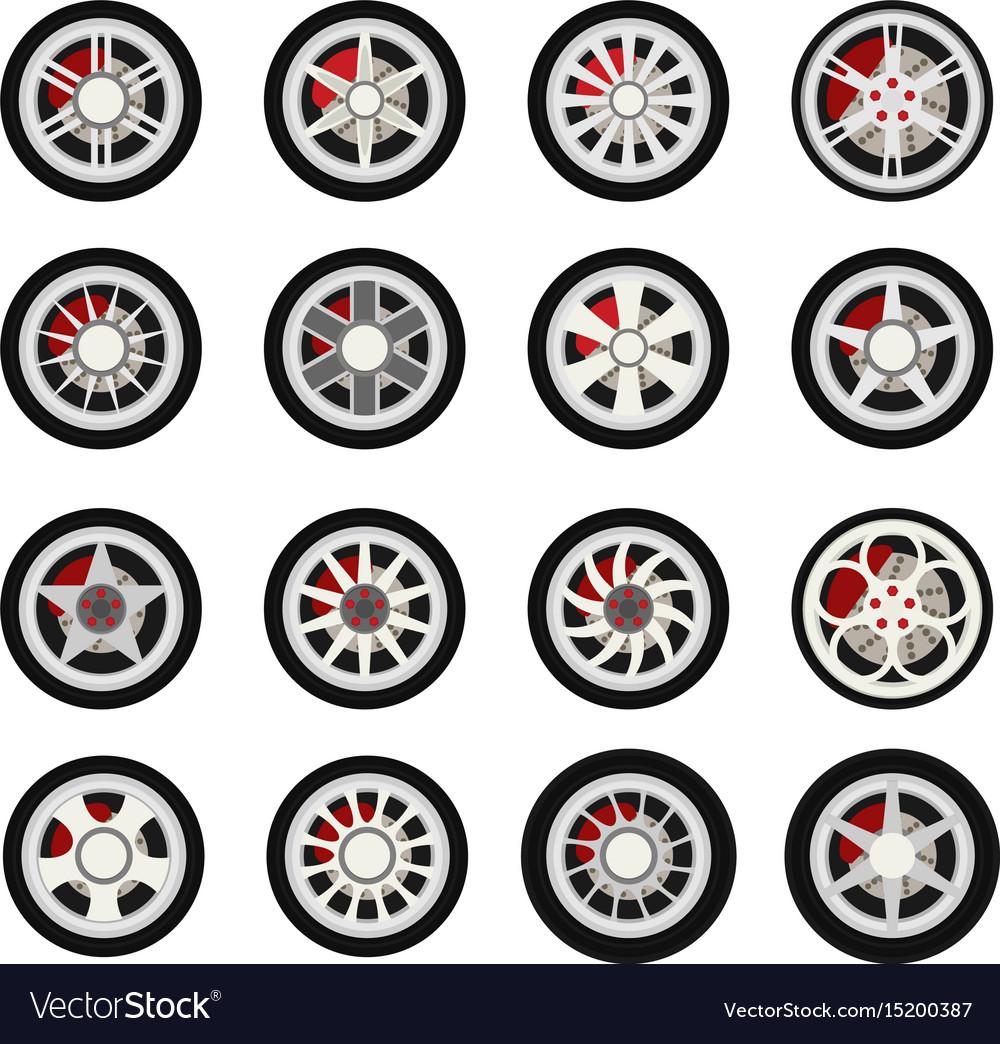 Flat wheels car