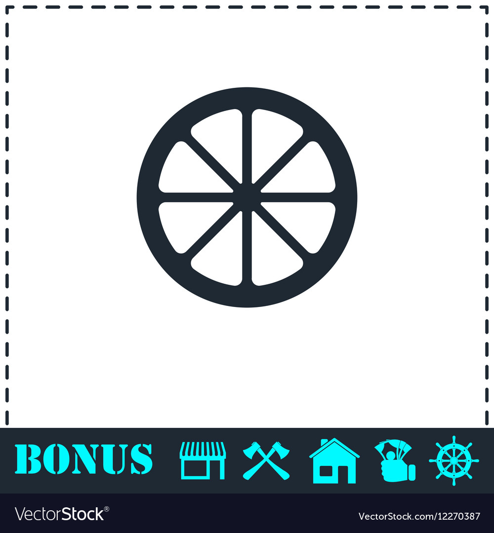 Lemon icon flat